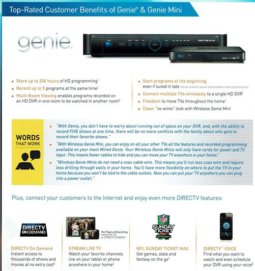 DirecTV Packages - Take One System